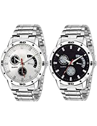 Styllent Combo Of 2 Analog Watch For Boys And MensOn Time Octus Combo Of 2 Analog Watch For Boys And Mens   Watch...