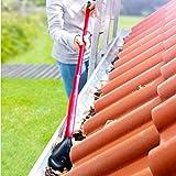 CLEANmaxx Dachrinnen-Reiniger Set 3-tlg.rot/schwarz