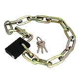 Aexit Ciclismo bici bicicletta sicurezza catena blocco lucchetto 70cm lunghezza w chiavi ID: 314710
