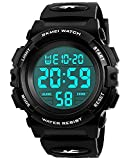 Kids Digital Watches for Boys  Waterproof Sports Watch with Alarm/Timer, Black Childrens Outdoor Electronic Sport Digital Watches for Teenages Boys Sold by UEOTO