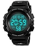 ENFANTS Digital montres pour garçons - étanche montre de sport avec alarme/Timer, Noir pour enfants extérieur électronique Sport Digital montres pour Teenages garçons Vendu par UEOTO
