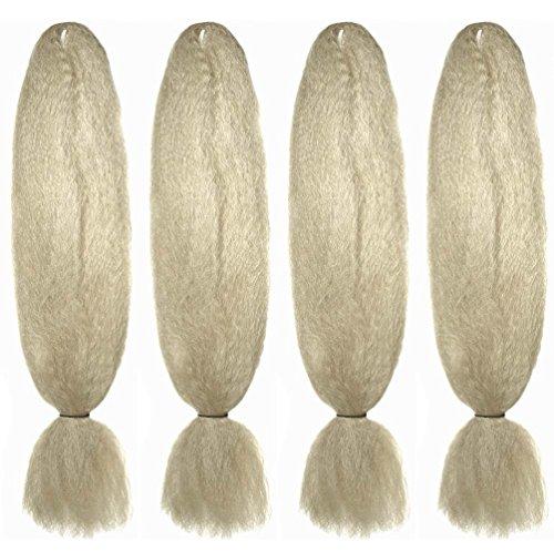 Paquete 4mechones jumbo pelo brillante fibras kanekalon