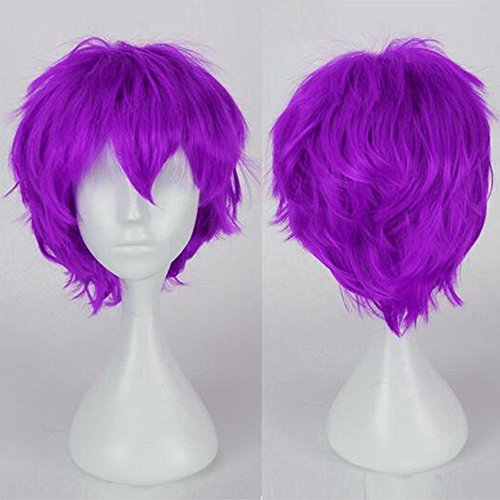 Cosplay Uk Weibliche Kostüme (S-NOILITE® Unisex Anime Kurz Full Head Perücken Cosplay Kostüm Party Halloween Fancy)