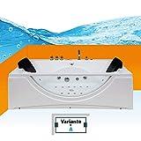 Whirlpool Pool Badewanne Eckwanne Wanne A1821H-A-ALL 90x180cm Reinigungsfunktion, Selfclean:aktive Schlauch-Reinigung +90.-EUR