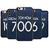 FUNcoque Coque silicone BUMPER souple IPHONE 7 PLUS/8 PLUS - Coupe du monde 2018 football maillot drapeaux france SWAG CASE tpu DESIGN + Film de protection INCLUS