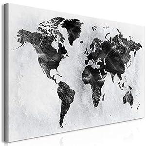 Decomonkey | Mega XXXL Bilder Weltkarte | Wandbild Leinwand 170x85 Cm  Einteiliger XXL Kunstdruck Zum Aufhängen
