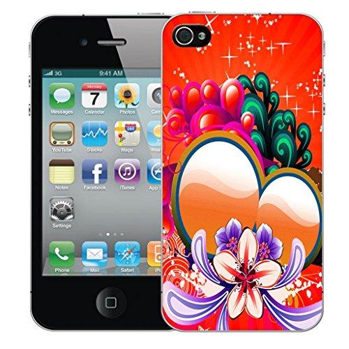 Nouveau iPhone 4 clip on Dur Coque couverture case cover Pare-chocs - sophisticated owl Motif avec Stylet red sweetheart