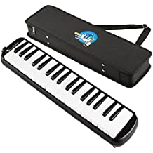 Swan 37 Key Melodica with Case - Black