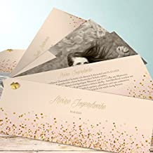 Einladungskarten Jugendweihe Selbst Gestalten, Geflitter Jugendweihe 200  Karten, Kartenfächer 210x80 Inkl. Weiße Umschläge