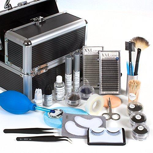Hochwertiges XXL Lashes Wimpernverlängerung Design Kit Extension-Augen Farbe schwarz