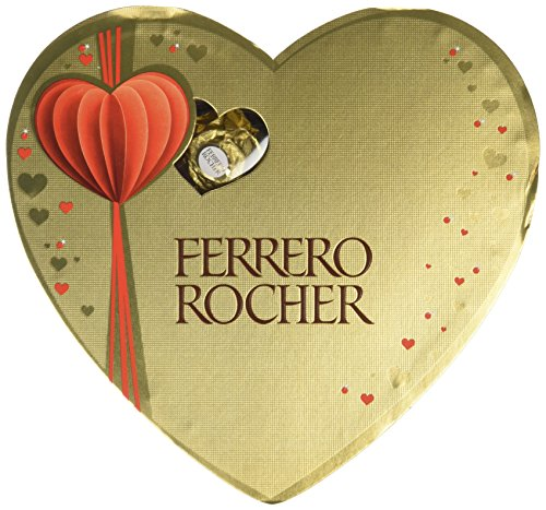 Ferrero Rocher Heart Box 10 Pieces 125g (Pack of 3, Total 30 Pieces)