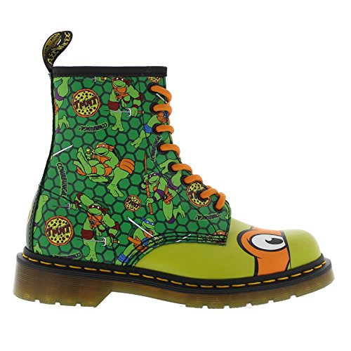 (Dr.Martens Womens Mikey 1460 8-Eyelet Green Leather Boots 39 EU)