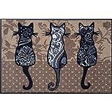 Waschbare Fussmatte - Katzenbande Katzen ca 40x 60 cm wash+dry