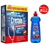 #2: Crystale Dishwasher Tablets 100's with Free Crystale Dishwasher Rinse Aid 500ml Worth Rs.309