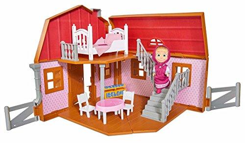 Simba 109301038 - Mascha und Der Bär Haus, 2 Etagen, Aufklappbar Preisvergleich