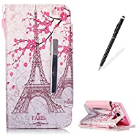 Premium Leather Wallet Case for Samsung Galaxy S7 Edge [with Free 2 in 1 Black Touch Stylus],KaseHom Fashion Unique Colourful Pattern Design Book Style Folio Magnetic Flip Stand Shockproof Protective PU Leather Case Cover Skin Shell for Samsung Galaxy S7