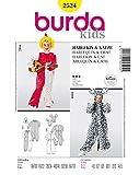 Burda 2524 Schnittmuster Kostüm Fasching Karneval Harlekin & Katze (Kids, Gr. 104-170) – Level 3 mittel