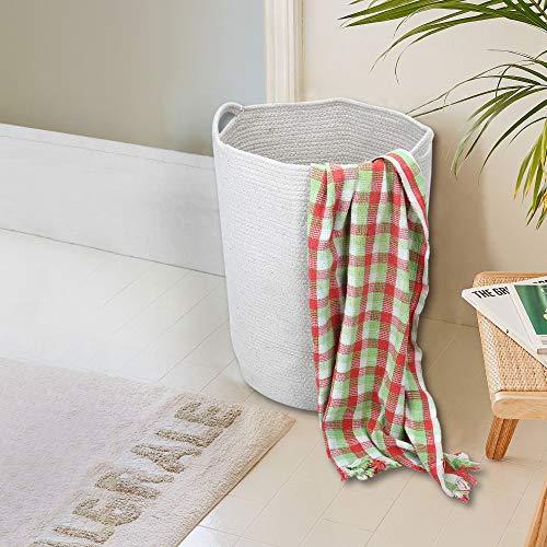 RAJRANG Ablagekorb Extra Große Natur Baumwolle Container Tasche und Wäschekorb Für Kindergarten Lagerplätze Seil Wäscherei Baby Spielzeug Tasche Korb