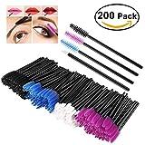 PIXNOR 150 pack monouso ciglia pennello Mascara Bacchette spazzole e pennelli di labbro Pack 50