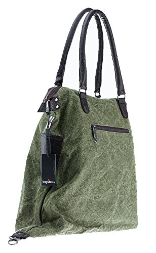 Bags4Less Damen F3151 Umhängetasche, 20x40x50 cm Washed Grün