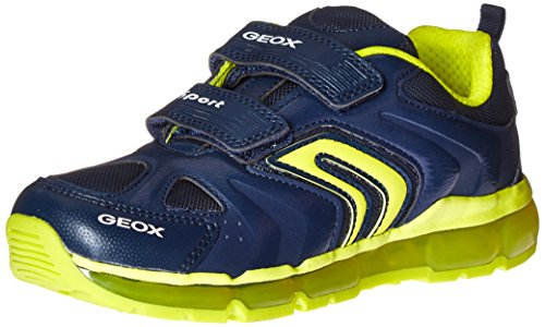 Geox Jungen J Android Boy D Low-Top, Blau (Navy/LIMEC0749), 30 EU (Geox Jungen Sneakers)