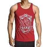N4835V Camiseta sin Mangas The Dark Side of The Beer (Medium Rojo