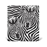 COOSUN Zebra Paar Buch Sox dehnbare Buchdeckel, geeignet für die meisten Hardcover Lehrbücher bis zu 9 x 11. leimlose, PU-Leder-Schule-Buch-Schutz 9-x-11-Zoll mehrfarbig