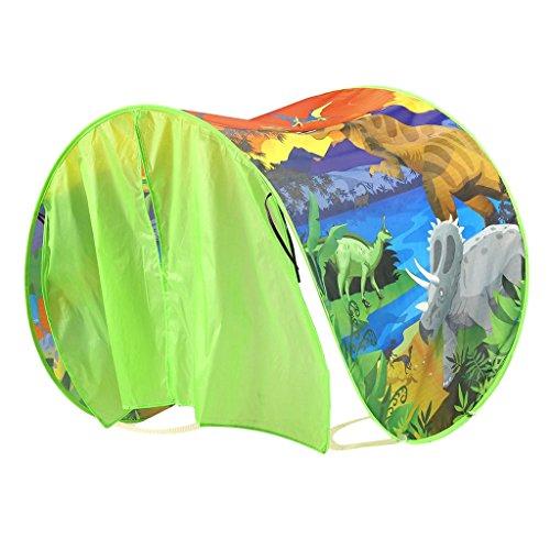 Dolity tenda da letto coperto pop-up pieghevoli giochi aperto bambini tessuto nylon regale - isola dinosauri