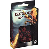 Q-Workshop Dragon Dice, schwarz/rot (7)