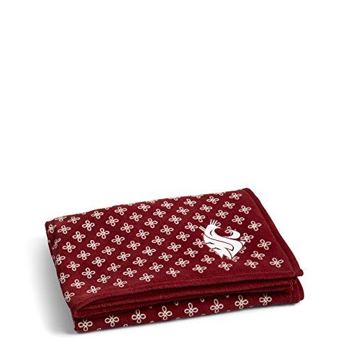 Decke Heckklappe (Vera Bradley NCAA Damen Überwurf Decke, damen, Cardinal/White)