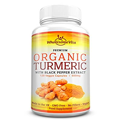 """LAUNCH PRICE"" Premium 100% Organic Turmeric Curcumin with Black Pepper Extract (Piperine) for Optimal Absorption - 600mg 
