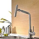 Miscelatore monocomando per lavabo, rubinetto da cucina monocomando, rubinetto miscelatore per lavello, bocca alta, bocca gorgogliatrice filtro multistrato girevole a 360 °, acciaio inossidabile 304
