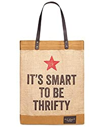 MacyS Vintage Thrifty Tote Shopping Bag - ItS Smart To Be Thrifty