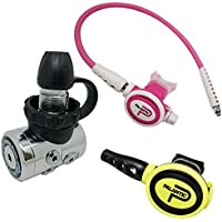 "Scuba Choice Palantic AS105DIN/scas2061""travel Lite"" ajustable regulador y octopus Combo, Pink(01)"