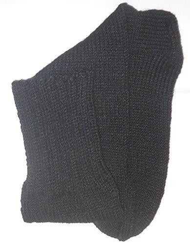 Preisvergleich Produktbild Olferia Stiefelsocken Gr. 42 schwarz handgestrickt 6fädig