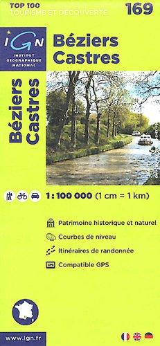 TOP100169 BEZIERS/CASTRES  1/100.000 par IGN