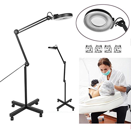 Lupenleuchte 15W LED Kaltlicht Lupenlampe 5 Dioptrien Standlupe Mit Stativ