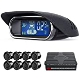 Picture Of aokur 8 Parking Sensors, Dual-core Car Reverse Backup Radar Alert System Front and Rear LCD Display Buzzer BiBi Alarm for All Car