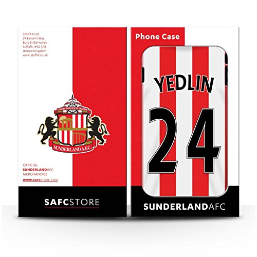 Offiziell Sunderland AFC Hülle / Matte Snap-On Case für Apple iPhone 6+/Plus 5.5 / Pack 24pcs Muster / SAFC Trikot Home 15/16 Kollektion Yedlin