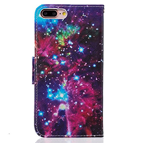 iPhone 7 Plus Hülle,iPhone 7 Plus Case,iPhone 7 Plus Cover - Felfy PU Ledertasche Strap Flip Standfunktion Magnetverschluss Luxe Bookstyle Ledertasche Nette Retro Mode Painted Muster Abdeckung Schutzh Bling