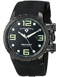 SWISS LEGEND 30021-PHT-SH - Reloj para hombres, correa de goma color negro