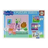 Peppa Pig - Puzzle progresivo, 12, 16, 20, 25 piezas (Educa Borrás...