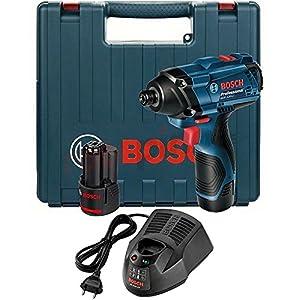 Bosch Professional GDR 120-LI Atornillador de Impacto a batería (2×1,5Ah Case) /06019F0001, Azul