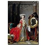 adgkitb canvas Porträt der Dame auf klassischer Ölgemälde-Leinwand Europäisches Gemälde auf...