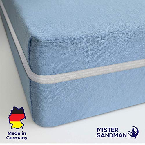 Mister Sandman Matratze, Härtegrad H2 H3, Komfortschaum Kern, Rollmatratze, ÖKO-TEX® waschbar, (Blau, 140 x 200 cm)