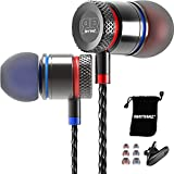 RHYTHMZ ® HD9 Smarttalk [ For iOS & Android ] Professional In-Ear Headphones Earphones with microphone and volume control (Titanium)
