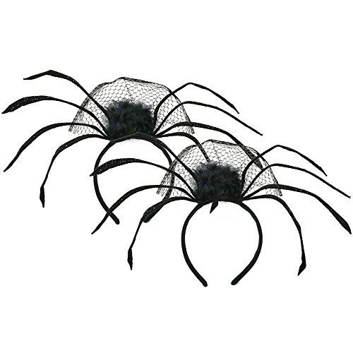 Kostüm Kindes Halloween Spinne (COM-FOUR® 2x Halloween Haarreife