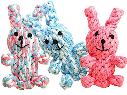 Milopon Hundespielzeug Haustier Baumwolle Seil Kauen Spielzeug Geflochten Baumwolle Seil Knoten Ball Pet Haustier Hund Zahnreinigung Ball Zufällige Farben (Baumwolle Hund Bälle)