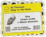 Quest 20Thermo Chip 'n' Pin Rollen Größe: 57mmx30mm passend für alle Thermo-Kreditkarte Maschinen