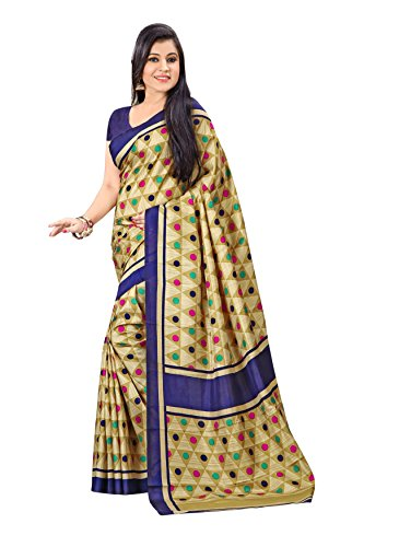 Urban Vastra Gold Triangle & Polka Dot Print Raw Silk Saree ( 18831 MG-2709)  available at amazon for Rs.499